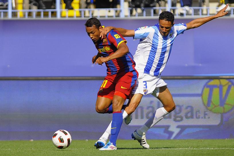Jeffren w barwach katalońskiego zespołu podczas spotkania ligowego z Deportivo /AFP