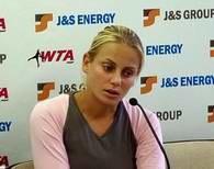 Jelena Dokic na konferencji prasowej /INTERIA.PL