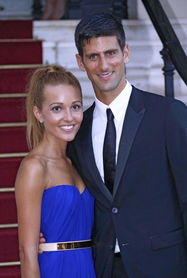 Jelena Ristić i Novak Djoković /AFP