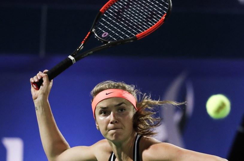 Jelina Switolina podczas meczu finałowego w Zjednoczonych Emiratach Arabskich /AFP