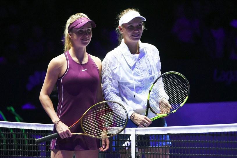 Jelina Switolina (z lewej) i Caroline Wozniacki /AFP