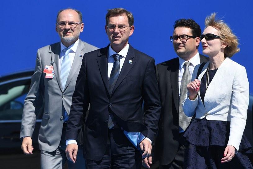 Jelko Kacin (pierwszy z lewej) /AFP
