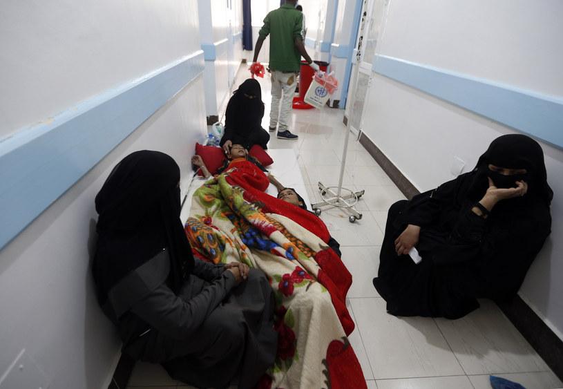 Jemen: Epidemia cholery nasila się /MOHAMMED HUWAIS /AFP
