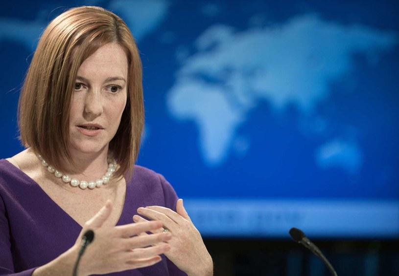 Jen Psaki - rzeczniczka Departamentu Stanu USA. /AFP