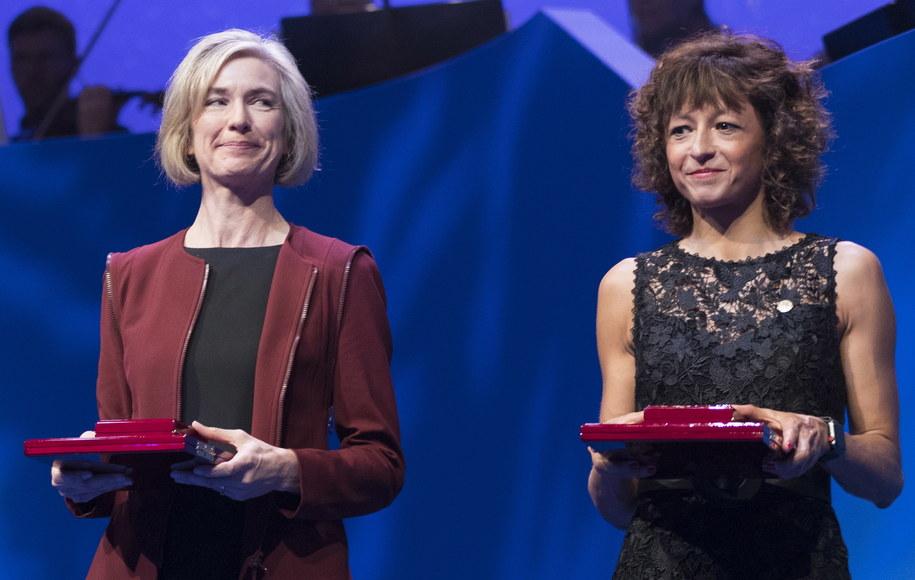 Jennifer A. Doudna i Emmanuelle Charpentier /BERIT ROALD  /PAP/EPA
