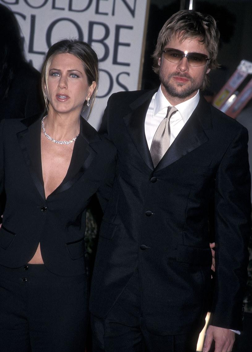 Jennifer Aniston i Brad Pitt, 2002 r. /Ron Galella /Getty Images