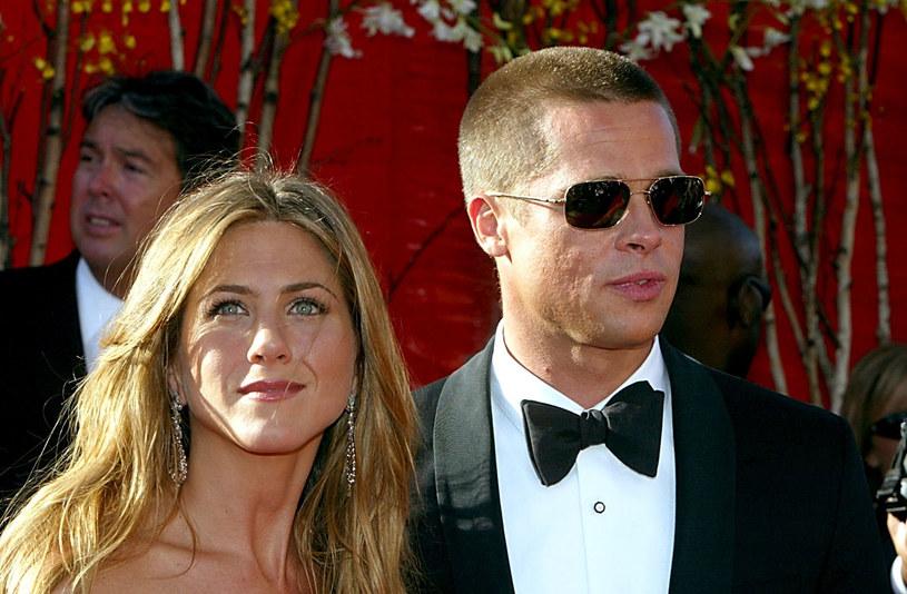 Jennifer Aniston i Brad Pitt jeszcze jako para /Getty Images