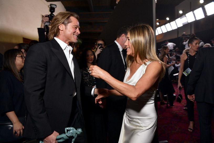 Jennifer Aniston i Brad Pitt na gali SAG Awards /Emma McIntyre/Getty AFP /East News