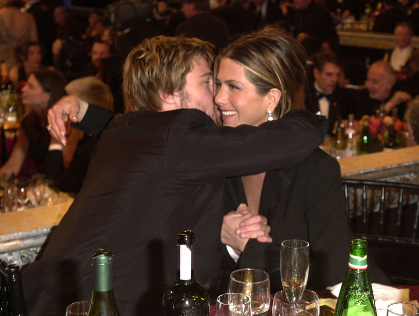 Jennifer Aniston i Brad Pitt w 2002 roku. /Trench Shore/WireImage /Getty Images