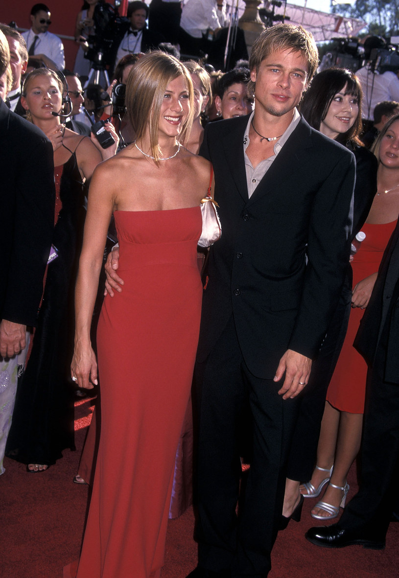 Jennifer Aniston i Brad Pitt /Ron Galella, Ltd./Ron Galella Collection /Getty Images