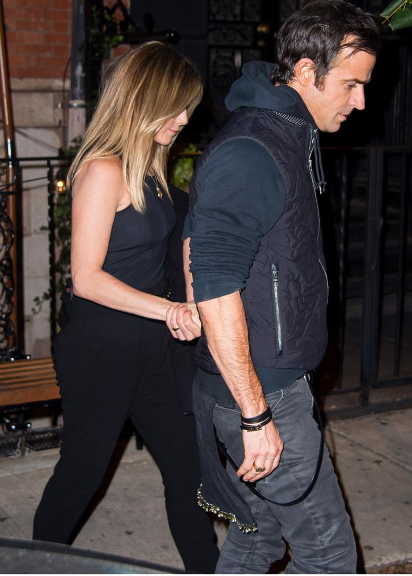 Jennifer Aniston i jej mąż Justin Theroux /- /East News