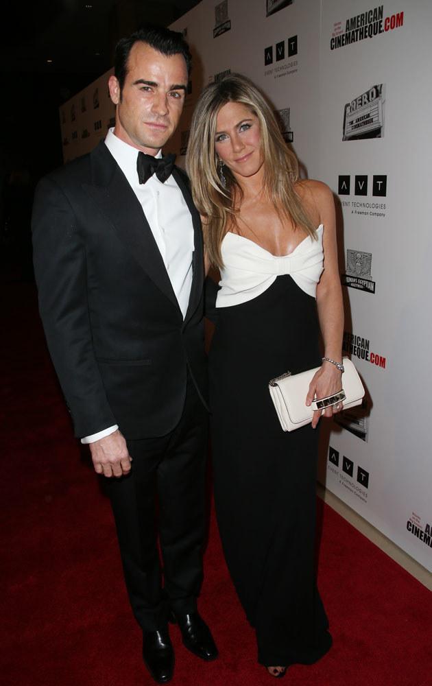 Jennifer Aniston i Justin Theroux tworzą jedną z najładniejszych par w show-biznesie /Frederick M. Brown /Getty Images