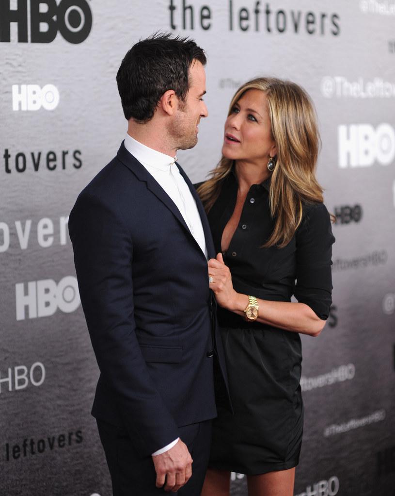 Jennifer Aniston i Justin Theroux /Dimitrios Kambouris /Getty Images