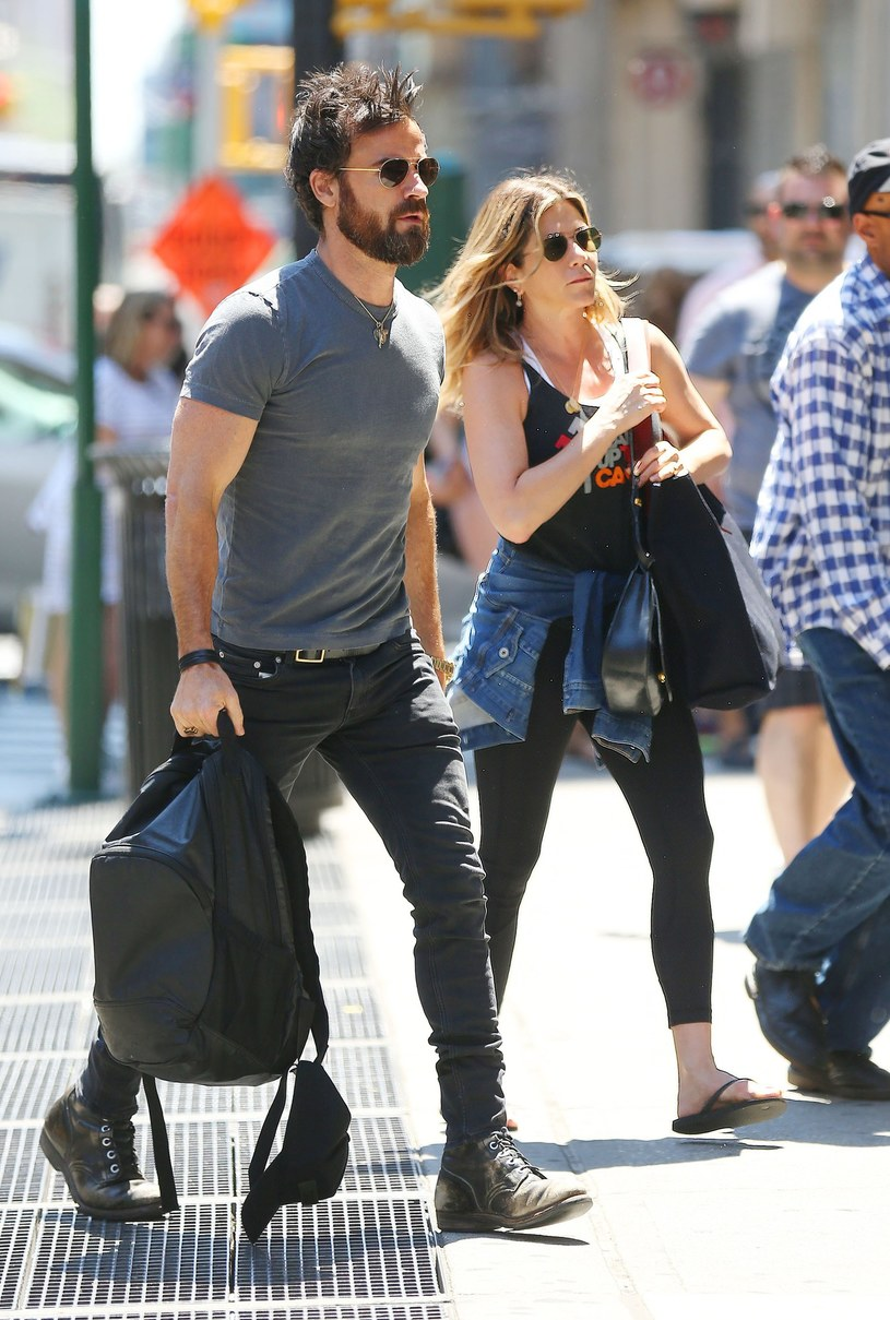 Jennifer Aniston i Justin Theroux /Splash News /East News