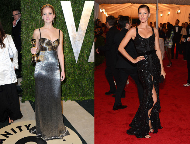Jennifer Lawrence i Gisele Bundchen /Getty Images