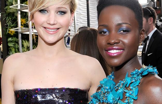 Jennifer Lawrence i Lupita Nyong'o - to one między innymi rywalizują o Oscara /AFP