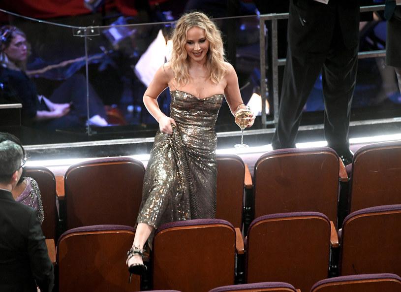Jennifer Lawrence na 90. gali rozdania Oscarów /Kevin Winter/Getty Images /Getty Images