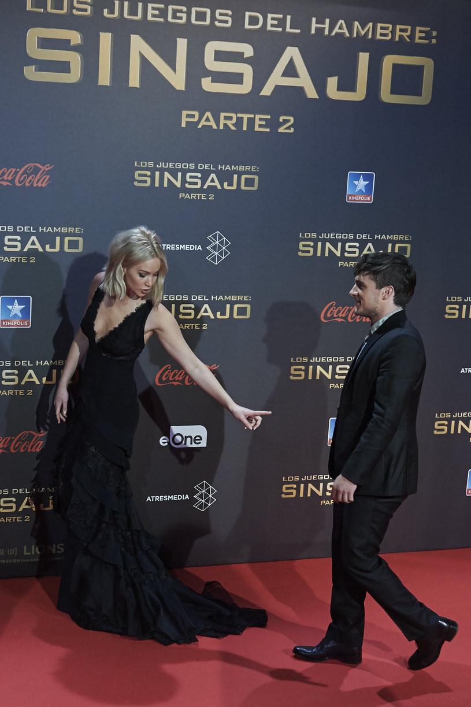 """Jennifer Lawrence podczas premiery """"Igrzysk śmierci"""" w Madrycie /Carlos Alvarez /Getty Images"""