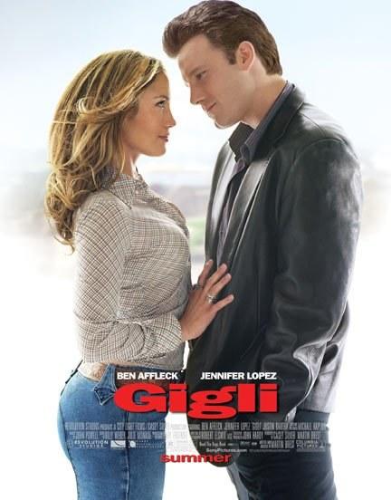 "Jennifer Lopez i Ben Affleck na plakacie filmu ""Gigli"" /materiały dystrybutora"