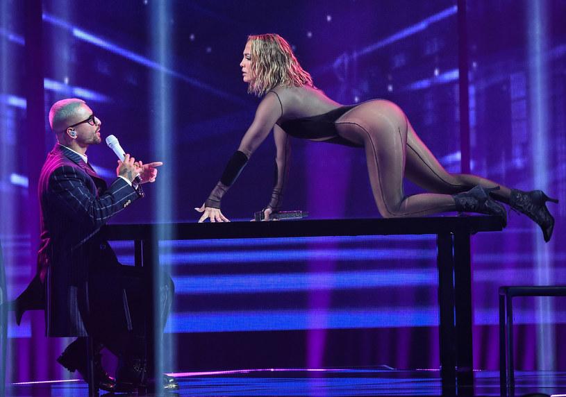 Jennifer Lopez i Maluma zaskoczyli podczas American Music Awards /ABC /Getty Images