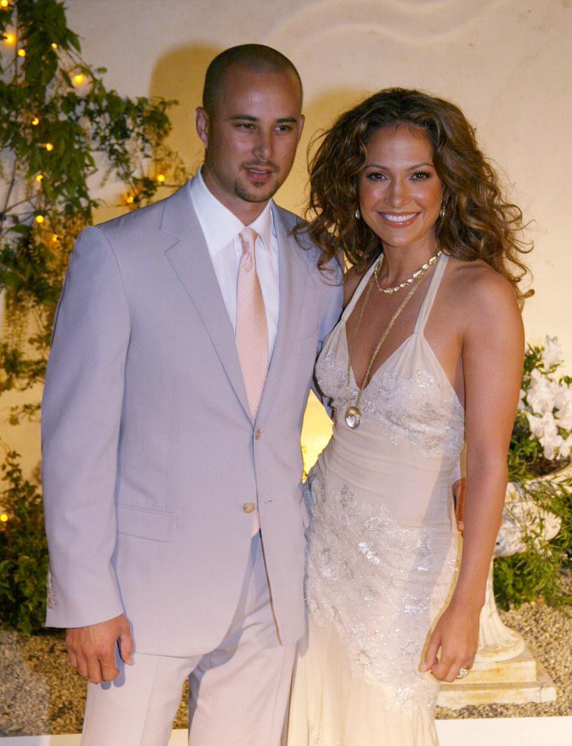 Jennifer Lopez z drugim mężem, Crisem Juddem /Frazer Harrison /Getty Images