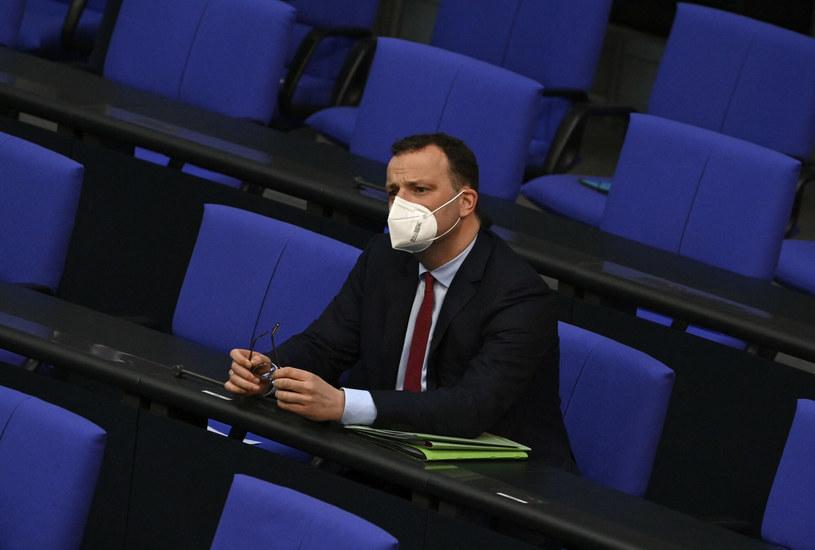 Jens Spahn w trakcie sesji Bundestagu /JOHN MACDOUGALL/AFP/East News /East News