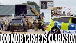 """Jeremy Clarkson w opałach. Protest przeciw zmianom klimatu na farmie gwiazdy """"Top Gear"""""""