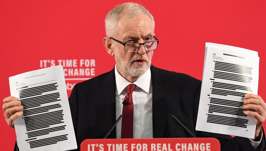 Jeremy Corbyn /ANDY RAIN /PAP/EPA