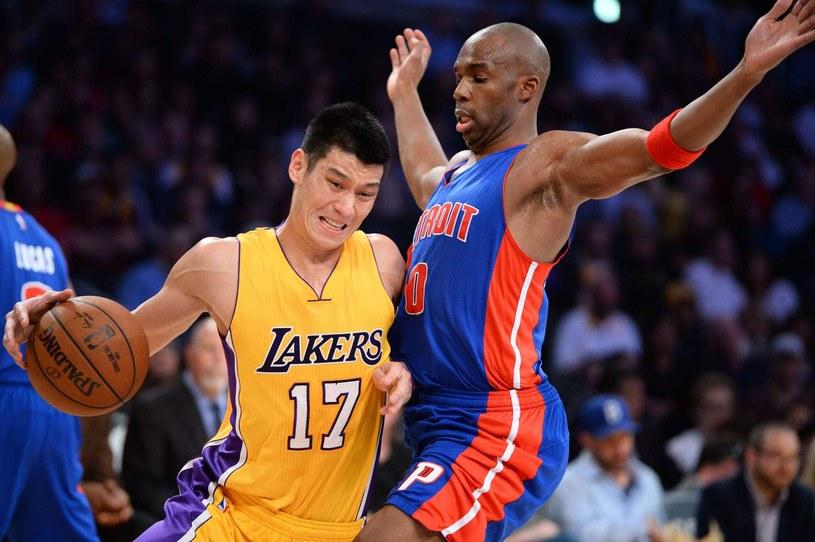 Jeremy Lin (z piłkę) /AFP