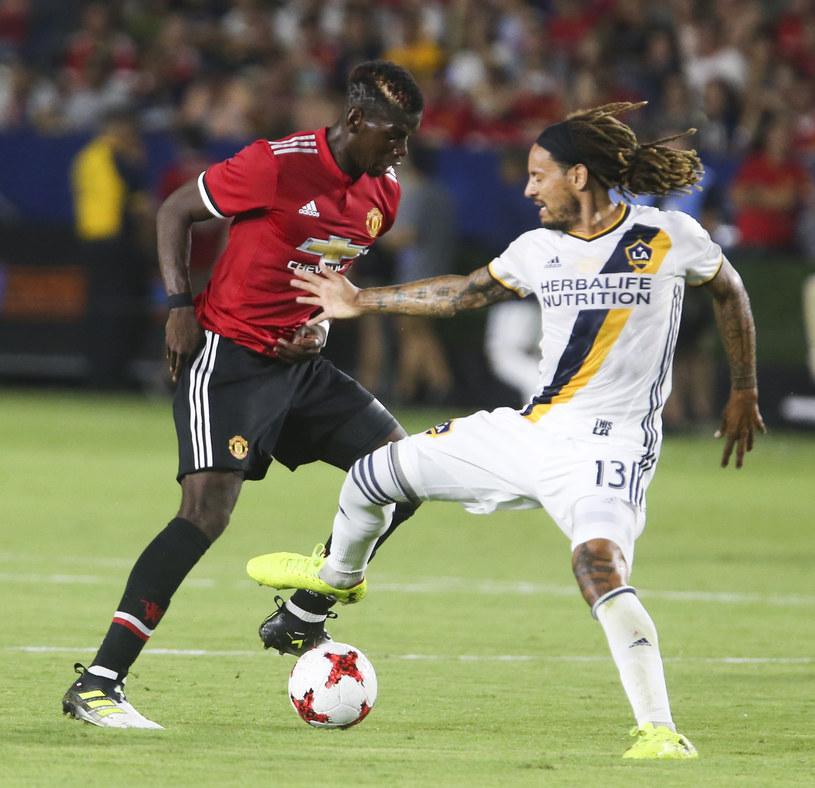 Jermaine Jones podczas towarzyskiego meczu z Manchesterem United /AFP