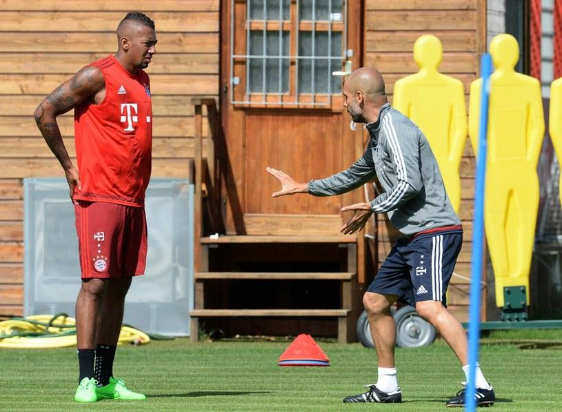 Jerome Boateng (z lewej) i Josep Guardiola /AFP