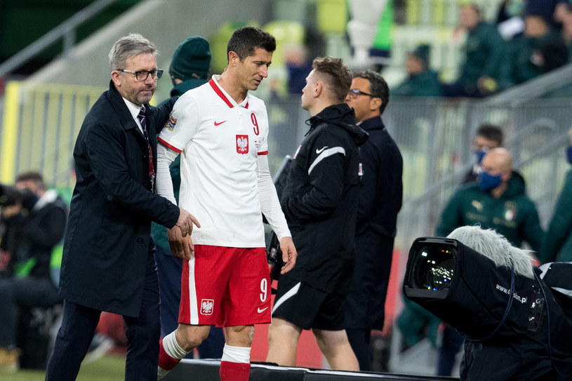 Jerzy Brzęczek i Robert Lewandowski /fot. Andrzej Iwanczuk/REPORTER /East News