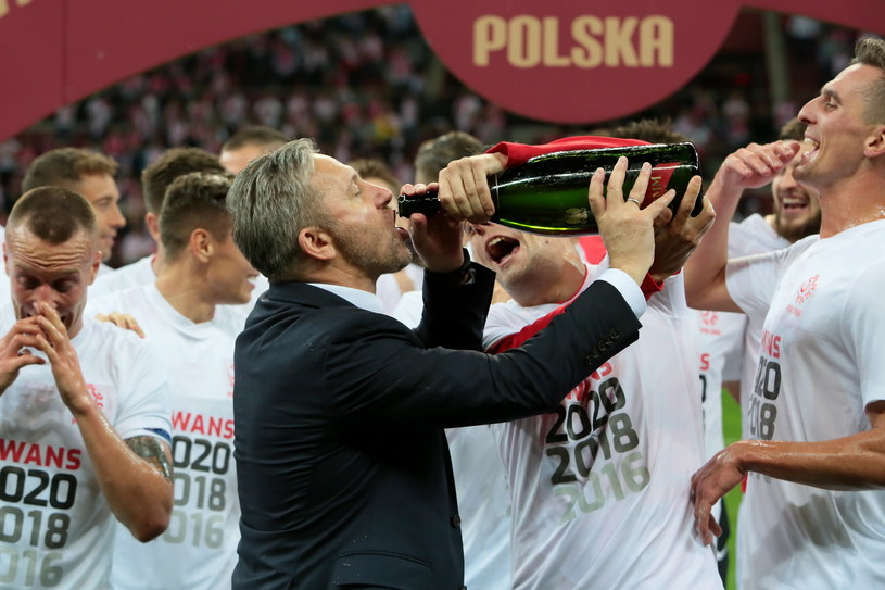 Jerzy Brzęczek po meczu z Macedonią Północną / Leszek Szymański    /PAP