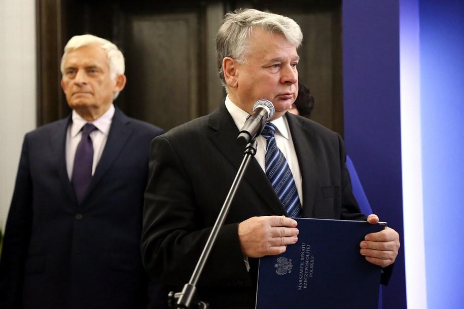 Jerzy Buzek i Bogdan Borusewicz /PAP/Tomasz Gzell /PAP