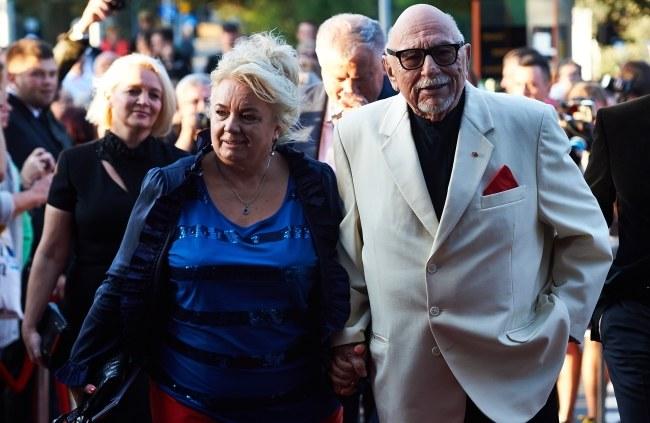 Jerzy Hoffman z żoną Jagodą Prądzyńską /PAP/Adam Warżawa    /PAP