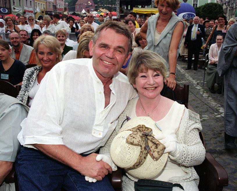Jerzy Janeczek i Ilona Kuśmierska w 2002 roku /TRICOLORS/EAST NEWS /East News