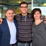 Jerzy Janowicz z rodzicami