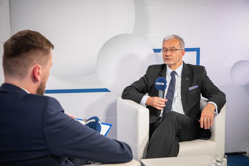 Jerzy Kwieciński, wiceprezes Banku Pekao w studiu Interii. /Fot. Ireneusz Rek /INTERIA.PL
