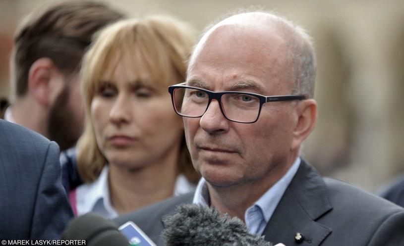 """Jerzy Meysztowicz: """"Chcemy, żeby wszystkie wynagrodzenia związkowców były pokrywane ze składek członkowskich"""" /Marek Lasyk/REPORTER  /East News"""