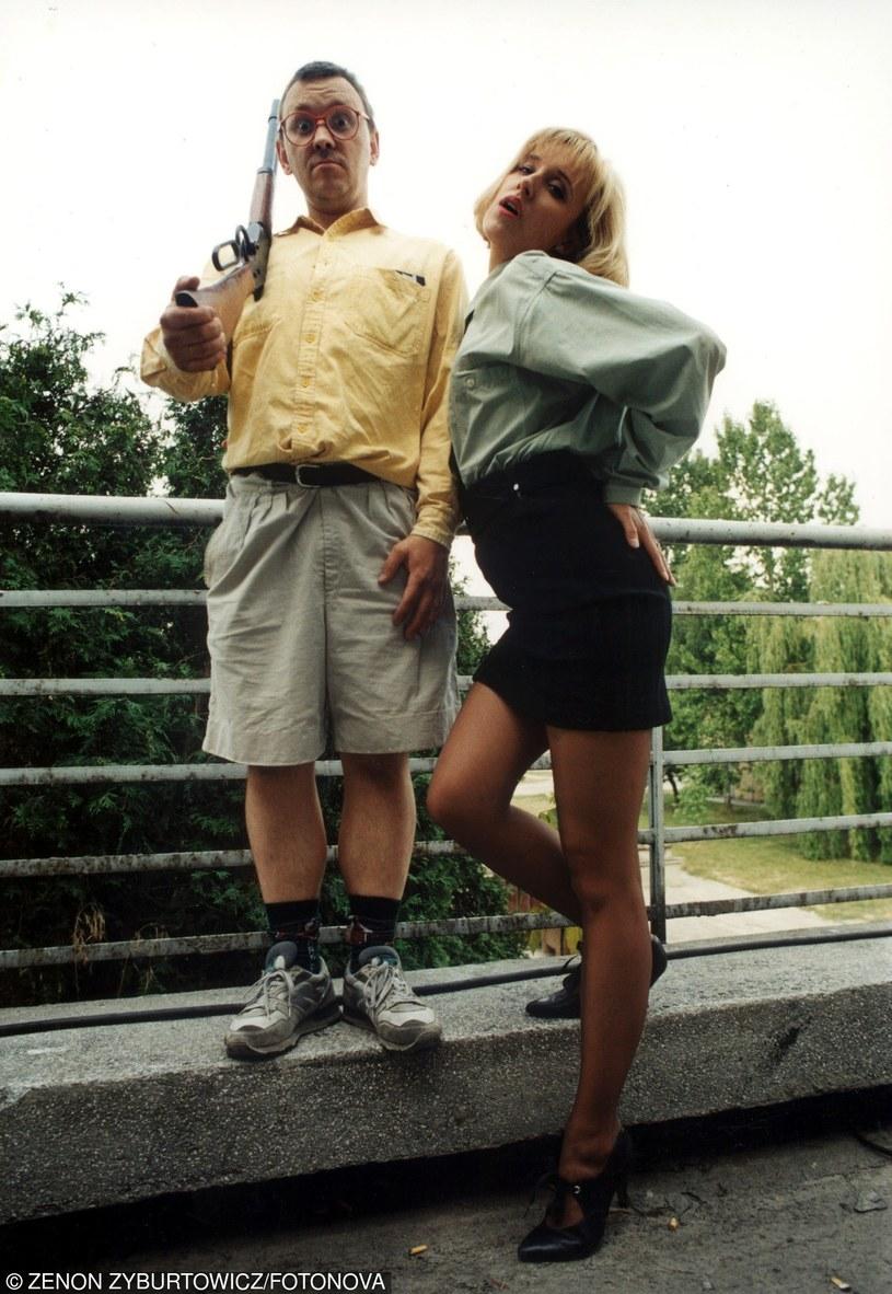 Jerzy Owsiak i Agata Młynarska w 1992 roku /Zenon Zyburtowicz /Fotonova
