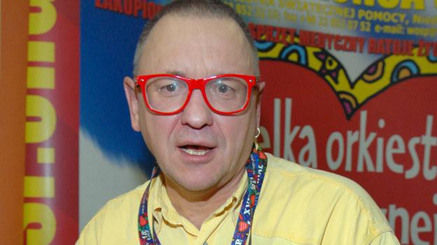 Jerzy Owsiak i jego magiczna żółta koszula - obowiązkowy stórj na każdy finał WOŚP/fot. M. Ulatowski /MWMedia