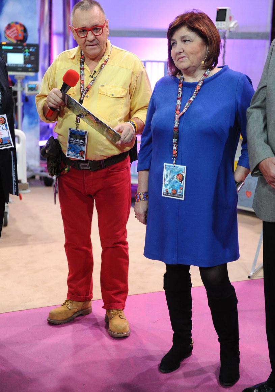 Jerzy Owsiak z żoną Lidią /Piotr Andrzejczak /MWMedia