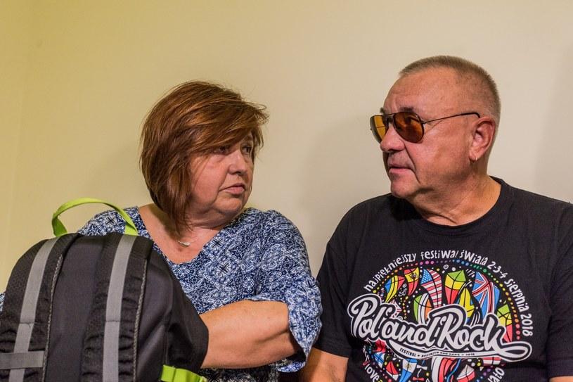 Jerzy Owsiak z żoną we wrocławskim sądzie /Krzysztof Kaniewski /Reporter