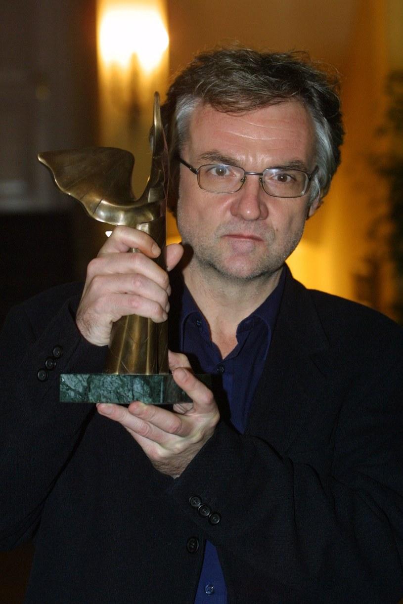 Jerzy Pilch na nagrodą Nike, 2001 r. /Studio69 /Agencja FORUM