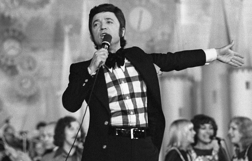 Jerzy Połomski na festiwalu w Opolu, 1974 r. /Agencja FORUM