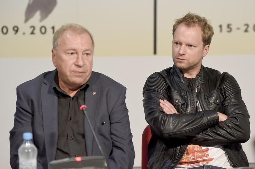 Jerzy Stuhr i jego syn Maciej Stuhr na festiwalu filmowym w Gdyni /AKPA