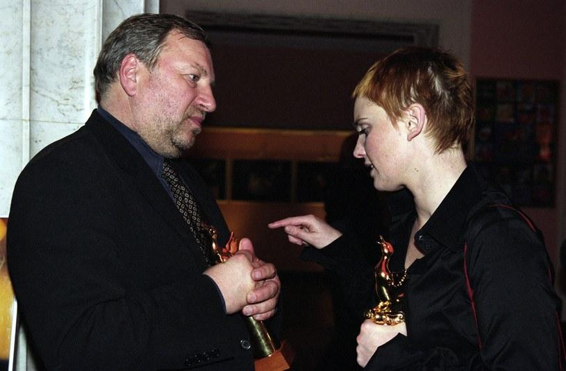 Jerzy Stuhr i Kinga Preis, 2002 rok /Tricolors /East News