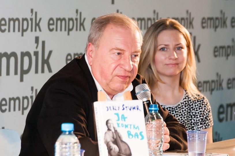 Jerzy Stuhr z córką Marianną /Zawadzki /Reporter