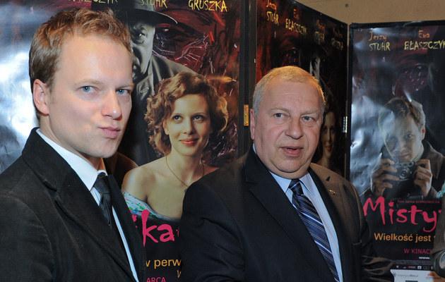 Jerzy Stuhr z synem Maciejem, fot.Paweł Przybyszewski  /MWMedia