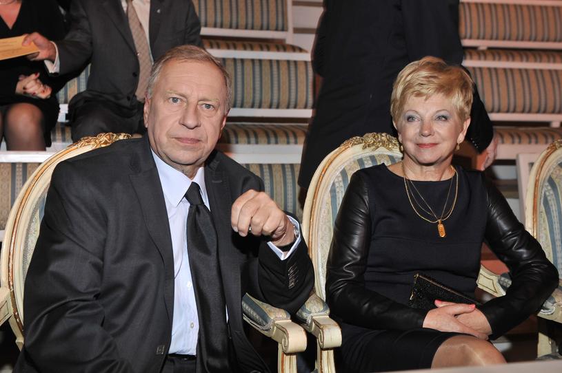 Jerzy Stuhr z żoną Barbarą /AKPA